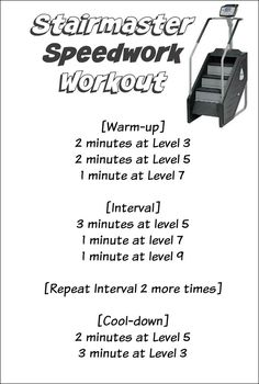 Stairmaster Speedwork Workout + CSX Compression so Stair Stepper Workout, Stair Climber Workout, Stairs Workout, Stepper Workout Machine, Stairmaster Workout, Treadmill Workouts, Workout Plans, Butt Workouts, Hiit Workouts For Beginners