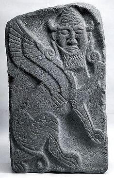 Orthostat relief: winged human-headed bull -  Period: Neo-Hittite Date: ca. 9th century B.C. Geography: Syria, Tell Halaf (ancient Guzana) Culture: Hittite Medium: Limestone