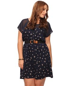 I am loving this Forever 21 Plus dress. The birdie print is so cute!