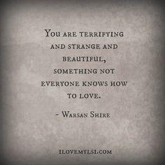Terrifying and strange and beautiful. - I Love My LSI