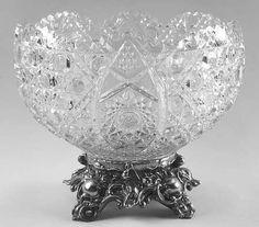 Mísa na punč * ručně broušené sklo, český křišťál * Bohemia Crystal CZ.