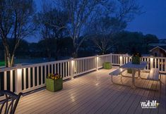 Modern garden low voltage deck lighting it likely can easily adorn your garden view. Assess and combine with different lamps types and judge how you can beautify a garden along with latern. Deck Post Lights, Solar Deck Lights, Balcony Design, Deck Design, Landscape Design, Outdoor Deck Lighting, Landscape Lighting, Deck Posts, Light In