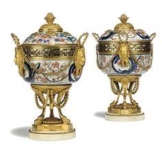 Porcelaine Imari fin XVIIème et monture en bronze doré XVIIIème