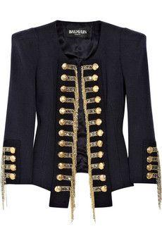 Balmain Embroidered Militar Knit Jacket Veste Officier, Veste Militaire,  Femme Style, Petit Tailleur 027f06173f78