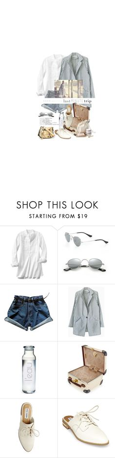 """""""Juste Quelques Petites Choses / Just A Few Little Things"""" by halfmoonrun ❤ liked on Polyvore featuring Gap, Ray-Ban, Susquehanna Glass, Globe-Trotter, Steve Madden, Marc Jacobs, 60secondstyle and lastminutetrip"""