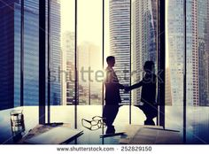 Business Handshake Agreement Partnership Deal Team Office Concept - stock photo