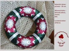 Artyčoková technika :: Nejenproradost Art Crafts, Arts And Crafts, Diy Wreath, Wreaths, Quilted Ornaments, Ribbon Art, Tis The Season, Techno, Christmas Crafts