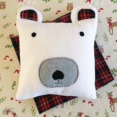 Snuggly Polar Bear DIY Pillow | AllFreeChristmasCrafts.com
