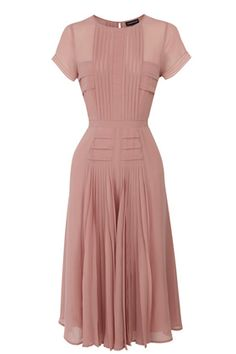 Pleated Bodice Skirt Midi Dress - doesn't look like much by itself, but I know this would look amazing on!
