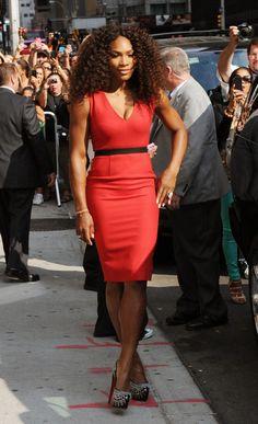 Serena Williams Photo - Serena Williams Visits The David Letterman Show