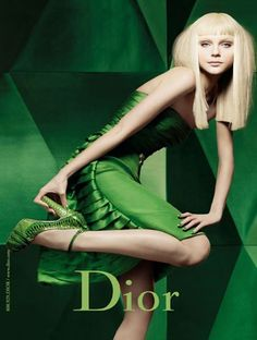 FASHION MOMENT: Let's talk about - Dior Ad Campaign in green