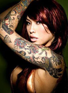 #tattoos, #female, #babe, #sexy