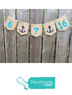 Date Banner Sign, RusticSave the Date Banner, Nautical Wedding, Wedding Announcement, Engagement Photo, Navy Wedding Party, Naval Wedding Bunting from Living Life Crafty http://www.amazon.com/dp/B01BMZP754/ref=hnd_sw_r_pi_dp_vbcVwb01NEMBB #handmadeatamazon