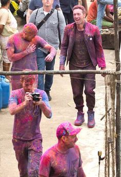 WOW! They actually look like they played Holi! #ColdplayInIndia