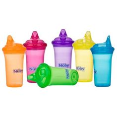 Nuby No-Spill Cup, 9 oz, Multicolor