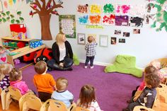 CIRCLE TIME (July 31): Shake those sillies out! Two and three-year-olds join Kathy Roeder for circle time fun.