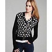 DIANE von FURSTENBERG Jacket - Harper Animal Print Knit