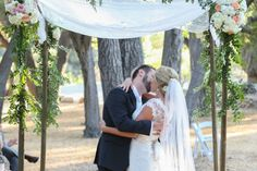 DIY  Garden LA Wedding Chuppah (The bride and her father built it.)