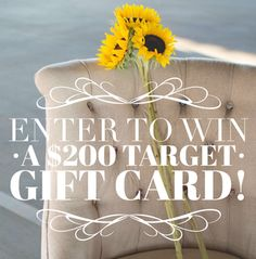 Enter For Your Chance to Win a $200 Target Gift Card {Ends 10/05/15}