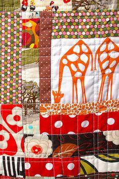 Giraffe scrap quilt