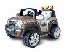 Thunderbird ride-on jeep! Twin-motor for zipping around up to 7 km/h!
