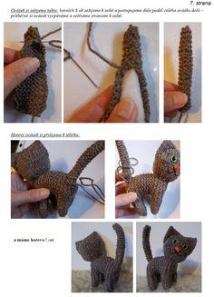 kočka | Návody na háčkované hračky Origami, Crochet Necklace, Jewelry, Jewlery, Jewerly, Schmuck, Origami Paper, Jewels, Jewelery