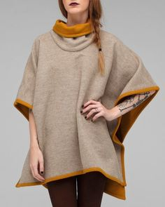 Pendelton Cape. Perfect fall outerwear.