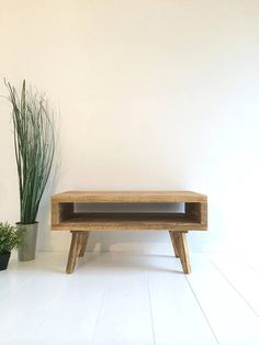 Industrial vintage Tv stand coffee table solid wood handmade