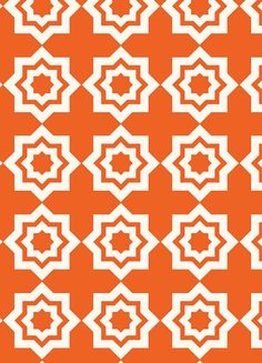 Tiles in Rust Fabric Moroccan Mirage by Khristian A by FabricBubb, $8.50