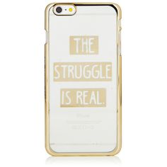 iPhone 6/6S PLUS The Struggle is Real Case ($29) ❤ liked on Polyvore featuring accessories, tech accessories, apple iphone cases, iphone case and iphone cover case