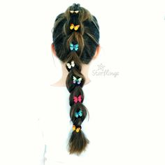 Awesome Butterfly French Braid! Get your Butterfly Pack from Starflings to make your own!