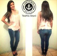 Calça jeans só 49,99 Blusa 49,99 #Vemprocontainer #Containeroutlet #Modafeminina #Grandesmarcas #Pequenospreços