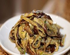 Баклажанный салат по-корейски | Диета Дюкана