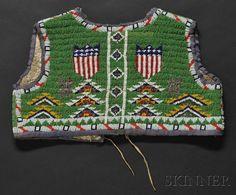 Lakota Beaded Hide Child's Vest | Sale Number 2596B, Lot Number 120 | Skinner Auctioneers