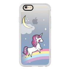 Candy Unicorn - iPhone 6s Case,iPhone 6 Case,iPhone 6s Plus... ($40) ❤ liked on Polyvore featuring accessories, tech accessories, iphone case, iphone hard case, apple iphone cases, clear iphone cases and iphone cases