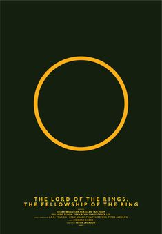 The minimalist poster is a remake of the original movie poster. This one is such a great example. The ring represents the whole movie so just using this one, people still recognise the Lord of the Rings movie.