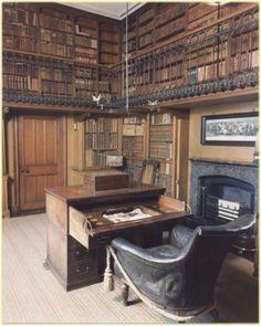 """Tweedland"" The Gentlemen's club: ABBOTSFORD Casa de Sir Walter Scott em Scotish Baronial Revival"