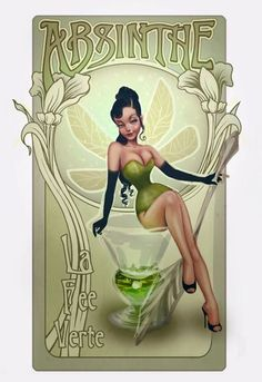 In progress shot of a custom Absinthe fairy by DarlinDesign