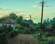 So I heard you like backgrounds. From up on Poppy Hill. Directed by Gorō Miyazaki, scripted by Hayao Miyazaki and Keiko Niwa, and produced by Studio Ghibli.