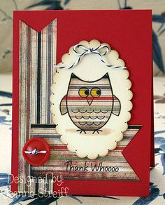 Sizzix Framelits (657564 Scallop Ovals)  The Stamps of Life Owls2love stamp set