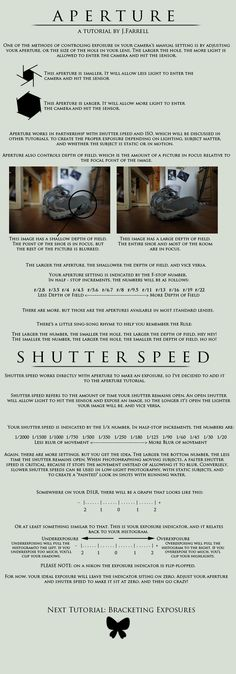 Aperture and Shutter Speed by J-Farrell.deviantart.com on @deviantART