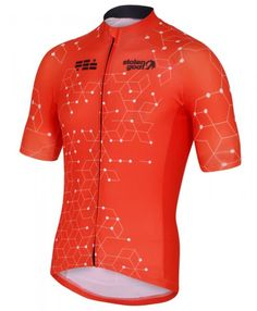 036d2a523 stolen goat orange cycling jersey mens intergalactic front Bike Wear