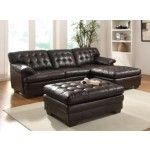 Acme Furniture - Nigel Bonded Leather Match Sectional Sofa in Dark Brown - 50770-SEC