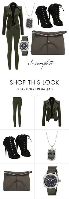 """""""Incomplete."""" by euniceleeeesheen ❤ liked on Polyvore featuring MM6 Maison Margiela, Giuseppe Zanotti, stella valle, Mismo and Bulova"""