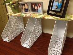 Folder Holder Shelf. Learn how to make this cheap and easy organizing shelf here http://firstcallnc.blogspot.com/2012/10/do-it-yourself-office-tips.html @firstcallclean #DIY #Office