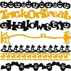 Free SVG Halloween Borders, free for personal use only.  Download from http://www.sherykdesigns-blog.com/  Password:  skhedrdesigns