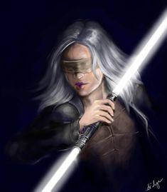 Miraluka Jedi Shadow speedpaint by Arideya on DeviantArt Star Wars Fan Art, Star Wars Concept Art, Star Wars Characters Pictures, Star Wars Images, Female Characters, Star Wars Sith, Star Wars Rpg, Clone Wars, Female Jedi