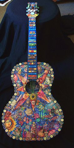 PLAYTIME wired for sound Mosaic Guitar by thebluemoose