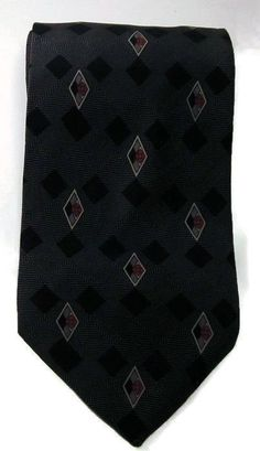 Stafford Silk Tie Classic Black Diamonds Design Necktie in Clothing, Shoes & Accessories, Men's Accessories, Ties | eBay
