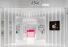 Completed in 2016 in Shanghai, China. Images by Dirk Weiblen. is a boutique sunglasses store offering a unique spatial retail experience. The concept for the space was inspired by ocular perception and the. Retail Store Design, Retail Shop, Store Window Displays, Retail Displays, Shop Displays, Visual Merchandising Displays, Boutique Interior Design, Retail Experience, Retail Interior